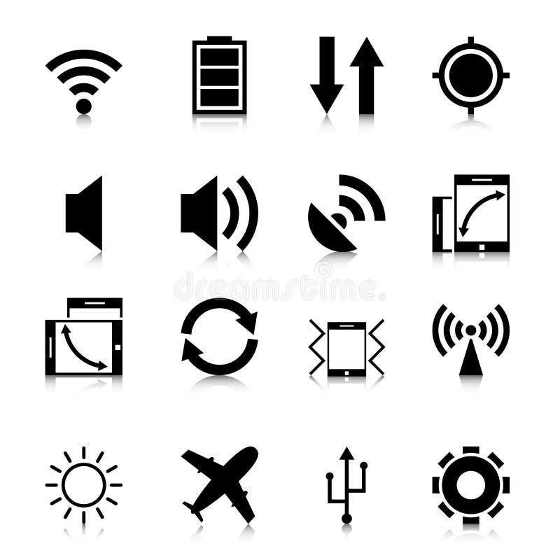 Icone mobili di App con la riflessione fotografia stock libera da diritti