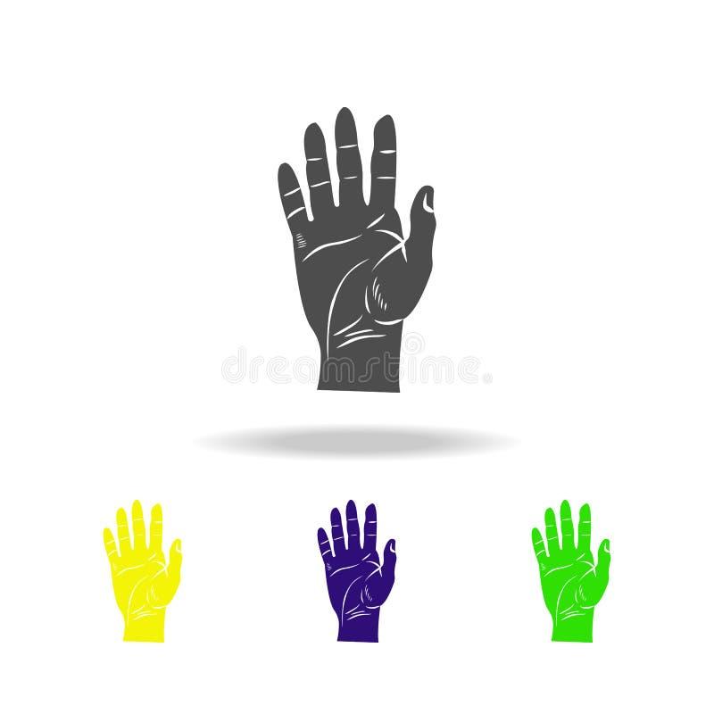 icone multicolori umane dell'organo di mano Elemento delle icone multicolori delle parti del corpo Segni ed icona per i siti Web, royalty illustrazione gratis
