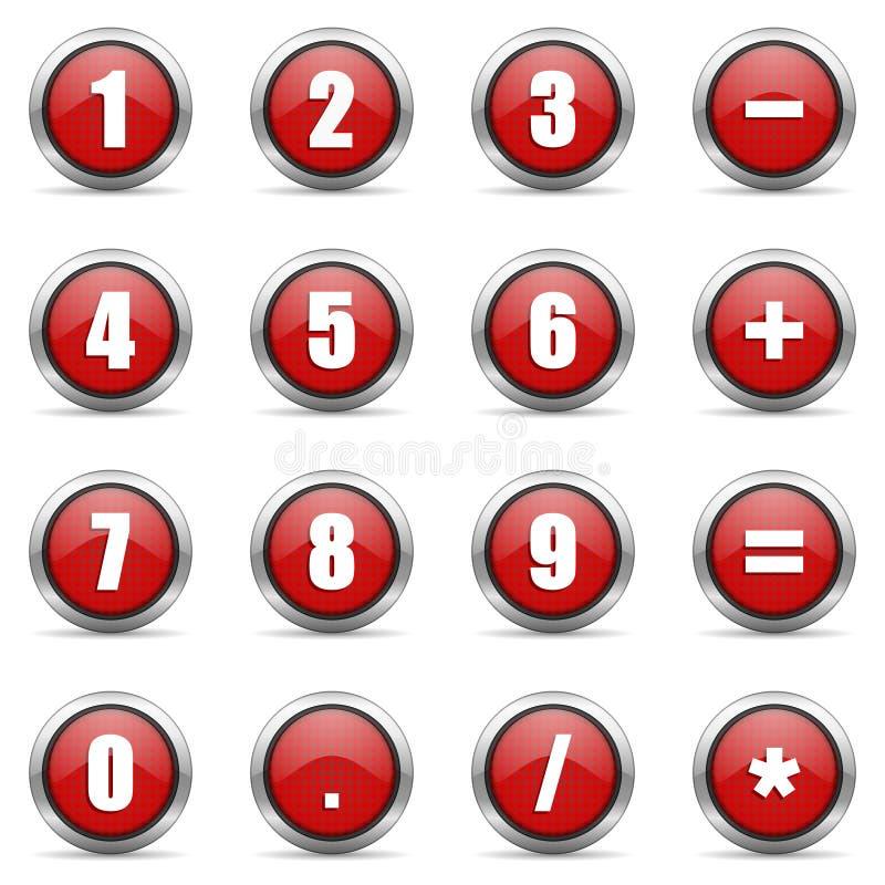Icone numeriche impostate royalty illustrazione gratis