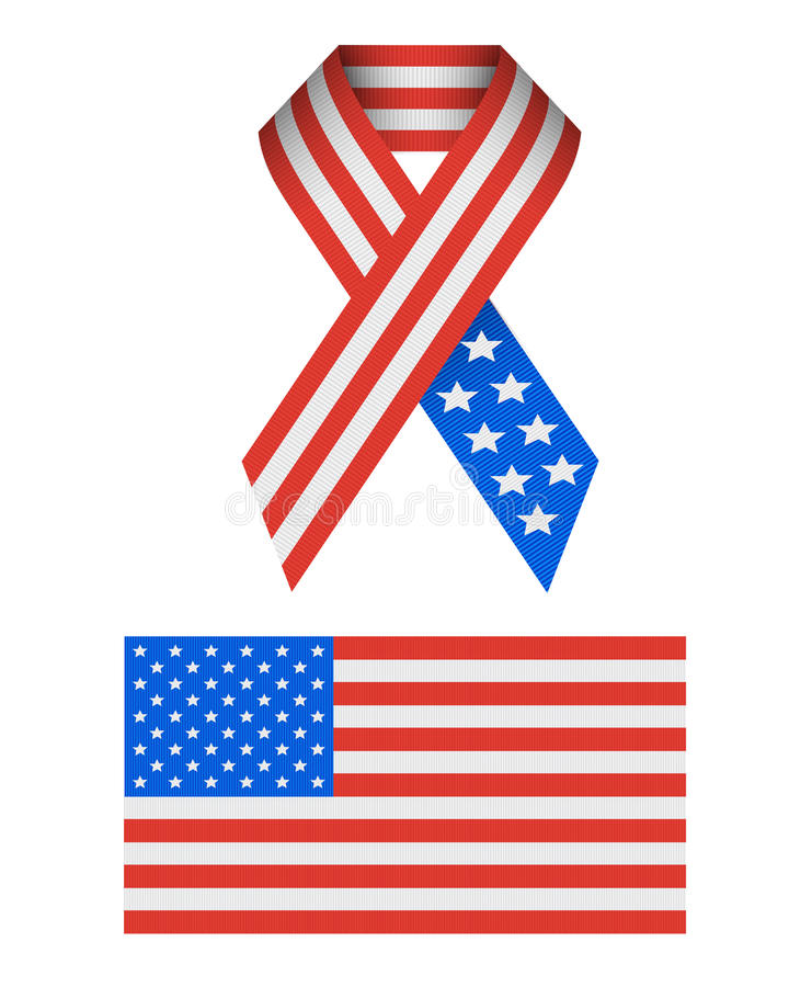 Icone patriottiche di vettore degli S.U.A. illustrazione di stock