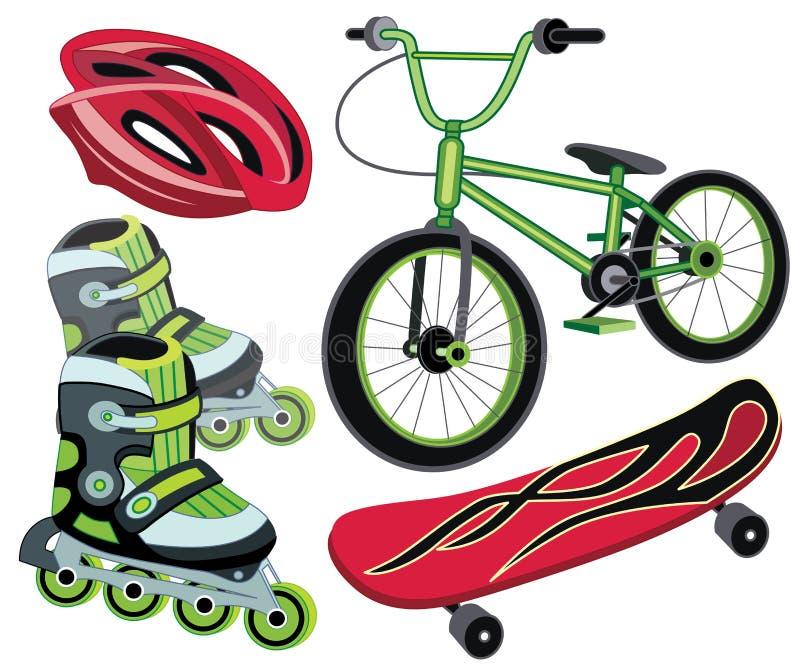 Icone per corsa con gli sci estrema illustrazione vettoriale