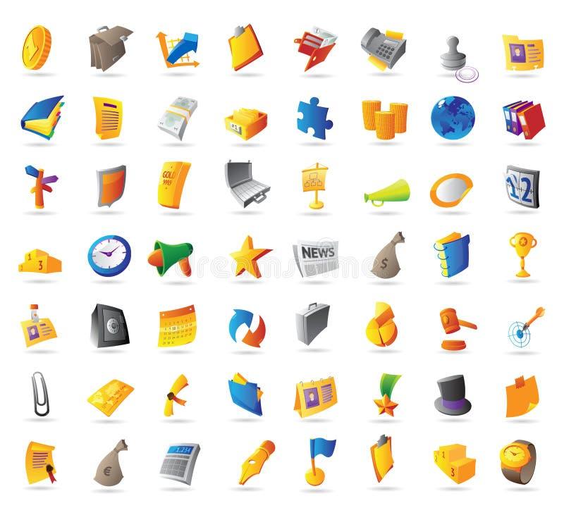 Icone per il commercio illustrazione vettoriale