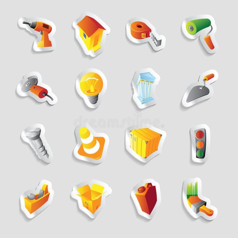 Icone per industria e tecnologia illustrazione di stock