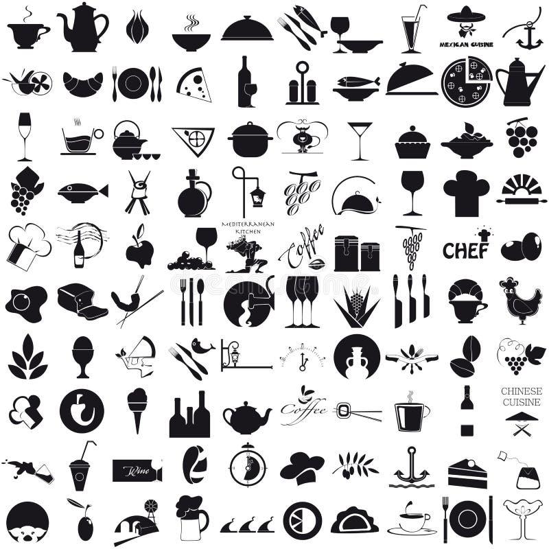 Icone per la gastronomie fotografia stock libera da diritti