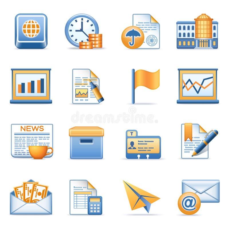 Icone per le serie arancioni blu 5 di Web royalty illustrazione gratis