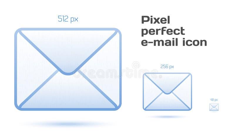Icone perfette del email del pixel illustrazione vettoriale