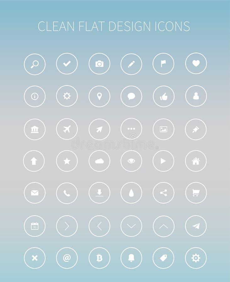 Icone piane del pacchetto del corredo di ui per webdesign o progettazione mobile fotografia stock libera da diritti