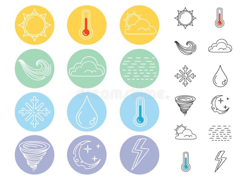 Icone piane del tempo illustrazione di stock
