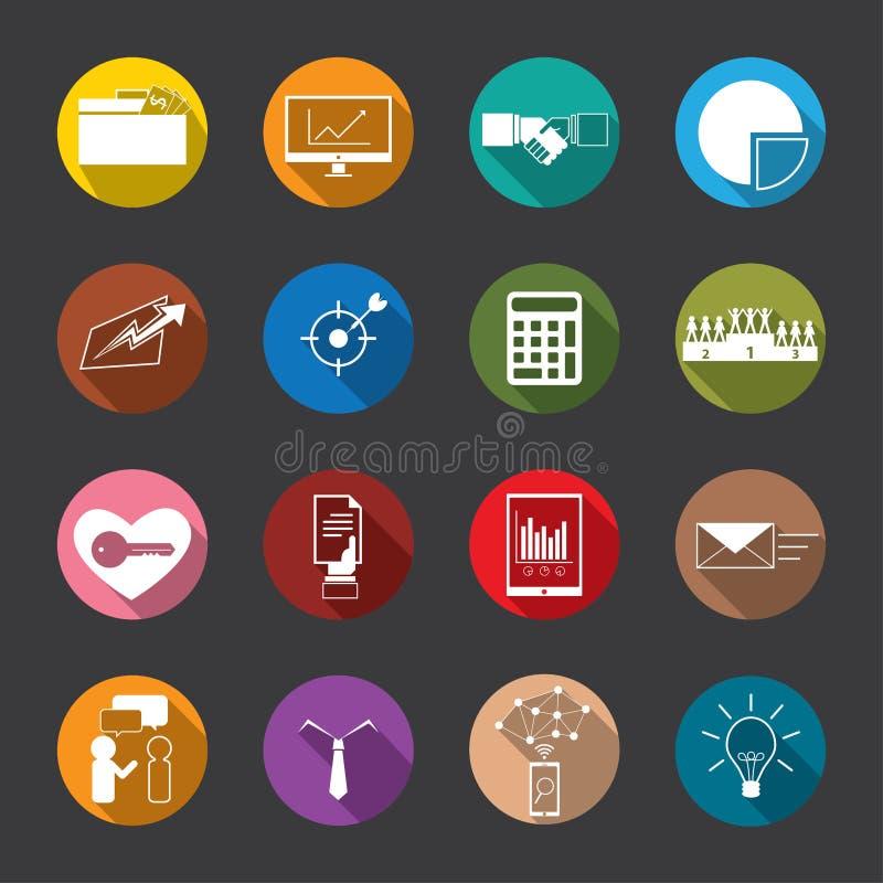 Icone piane di finanza & di affari, vettore illustrazione di stock