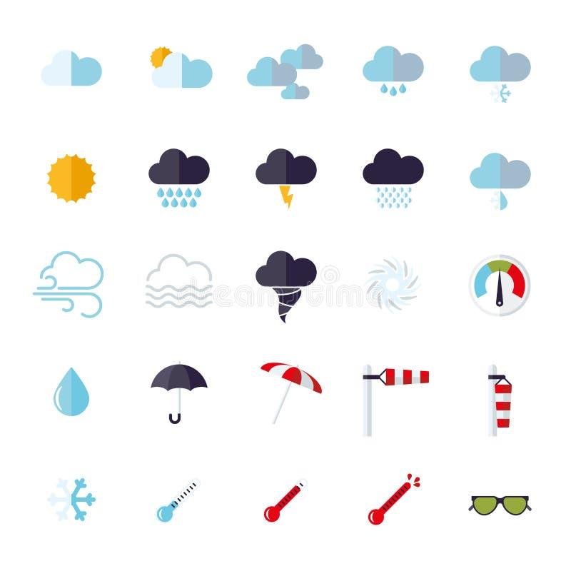 Icone piane di progettazione del tempo messe royalty illustrazione gratis