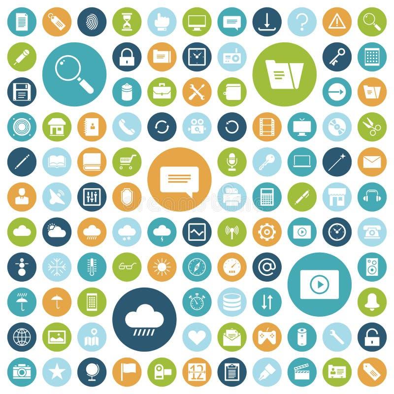 Icone piane di progettazione per l'interfaccia utente illustrazione vettoriale