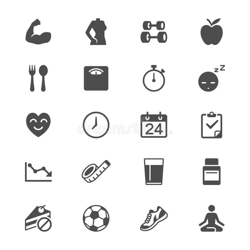 Icone piane di sanità illustrazione di stock
