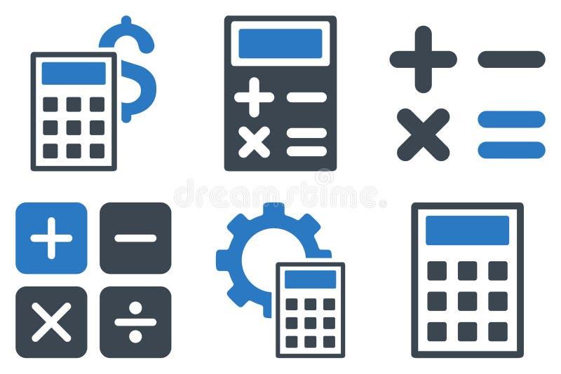 Icone piane di vettore del calcolatore illustrazione vettoriale