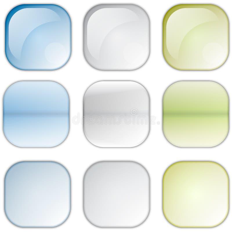 Icone quadrate immagine stock