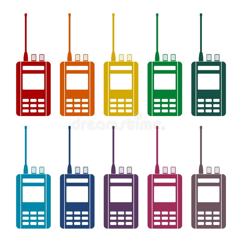 Icone radiofoniche messe illustrazione vettoriale