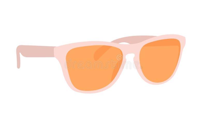 Icone realistiche degli occhiali da sole di protezione del sole di estate fissare vettore isolato illustrazione vettoriale