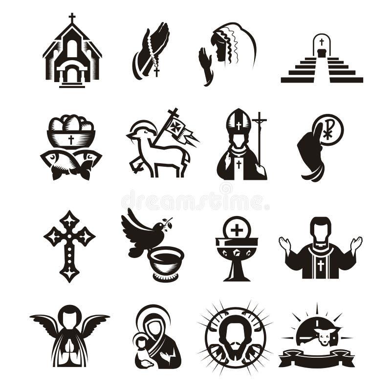 Icone religiose illustrazione vettoriale