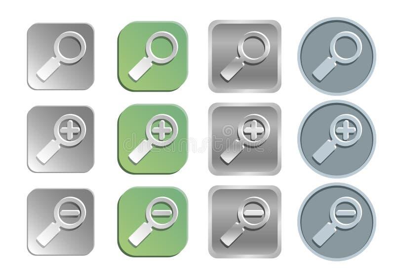 Icone ricerca/dello zoom illustrazione vettoriale