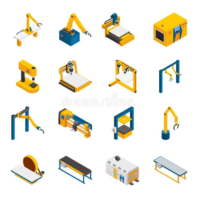 Icone robot del macchinario messe illustrazione di stock