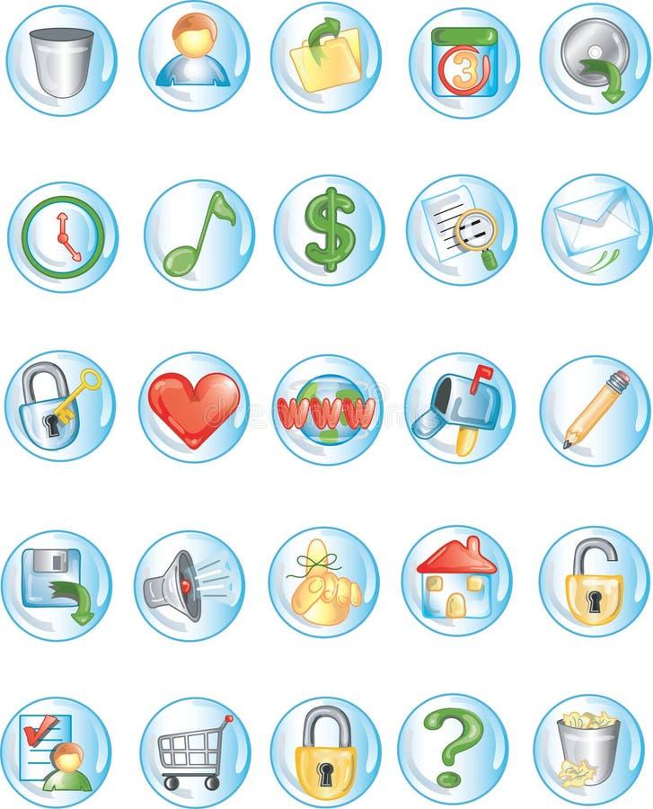 Icone rotonde 2 royalty illustrazione gratis