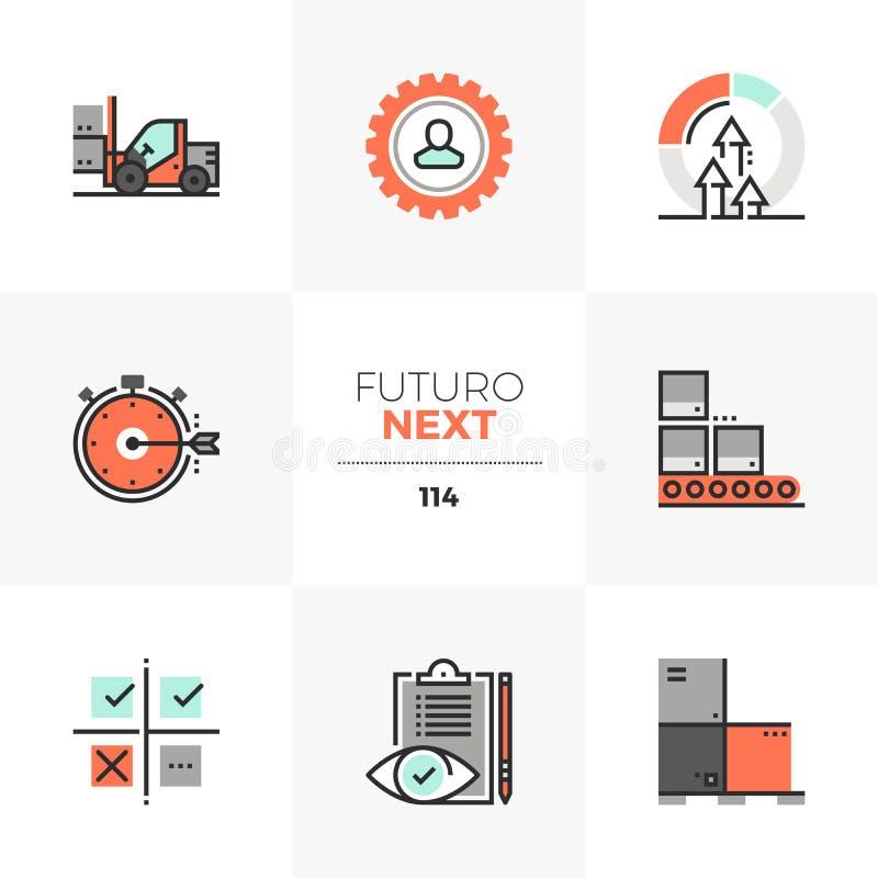 Icone seguenti di Futuro di controllo di qualità royalty illustrazione gratis