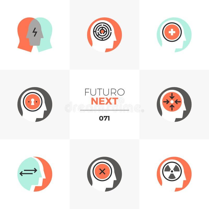 Icone seguenti di Futuro di psicologia royalty illustrazione gratis