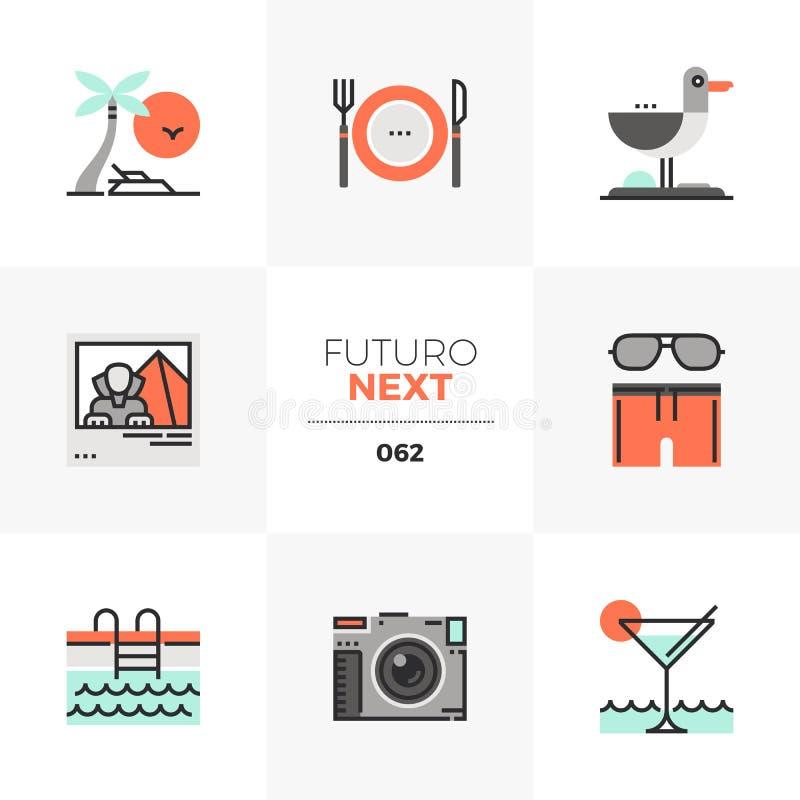 Icone seguenti di Futuro di ricreazione della località di soggiorno