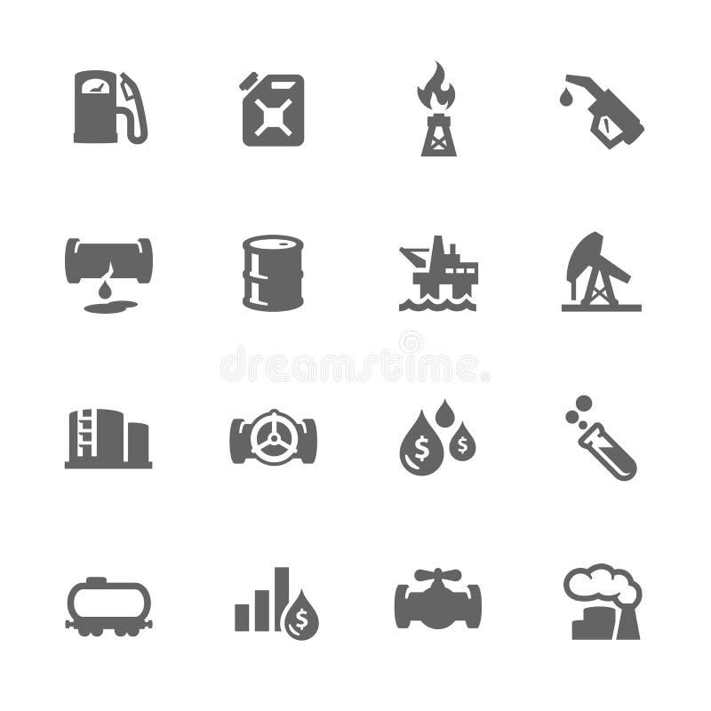 Icone semplici dell'olio royalty illustrazione gratis