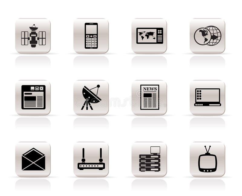 Icone semplici di affari e di comunicazione illustrazione vettoriale
