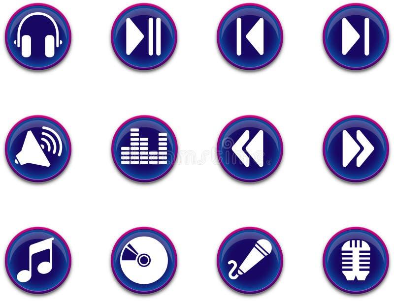 Icone - serie 1 di musica illustrazione di stock