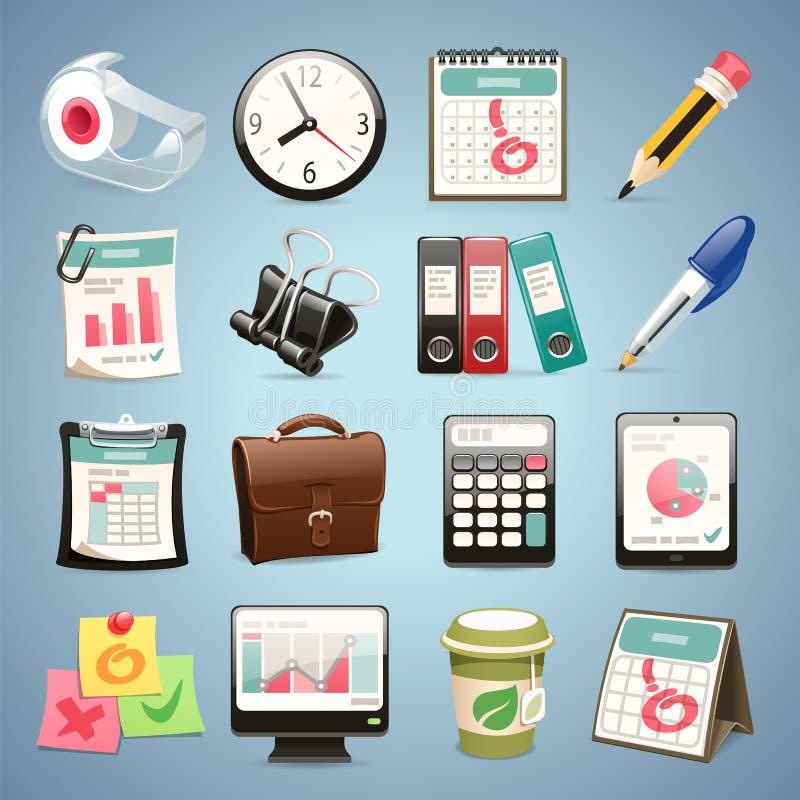 Icone dei mobili d 39 ufficio illustrazione vettoriale for Mobili ufficio stock