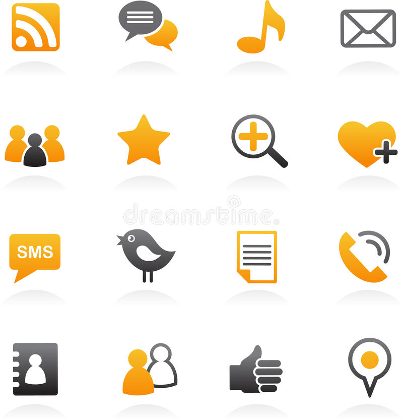 icone sociali della rete royalty illustrazione gratis