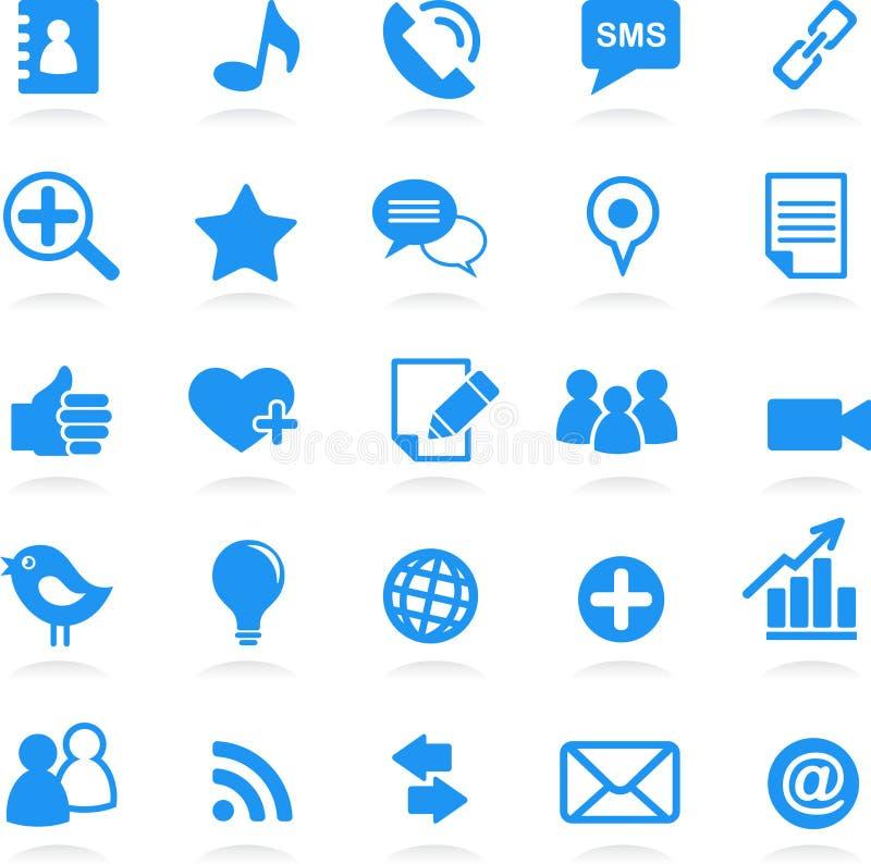 icone sociali della rete illustrazione vettoriale