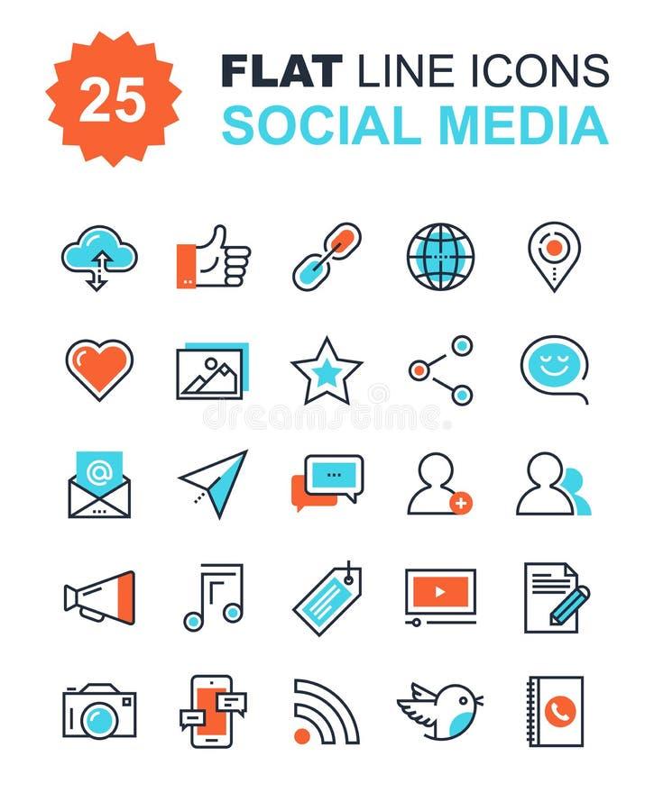 Icone sociali di media royalty illustrazione gratis