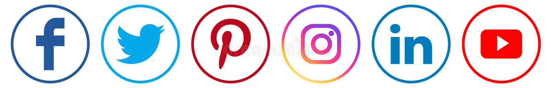 Icone sociali di media illustrazione vettoriale