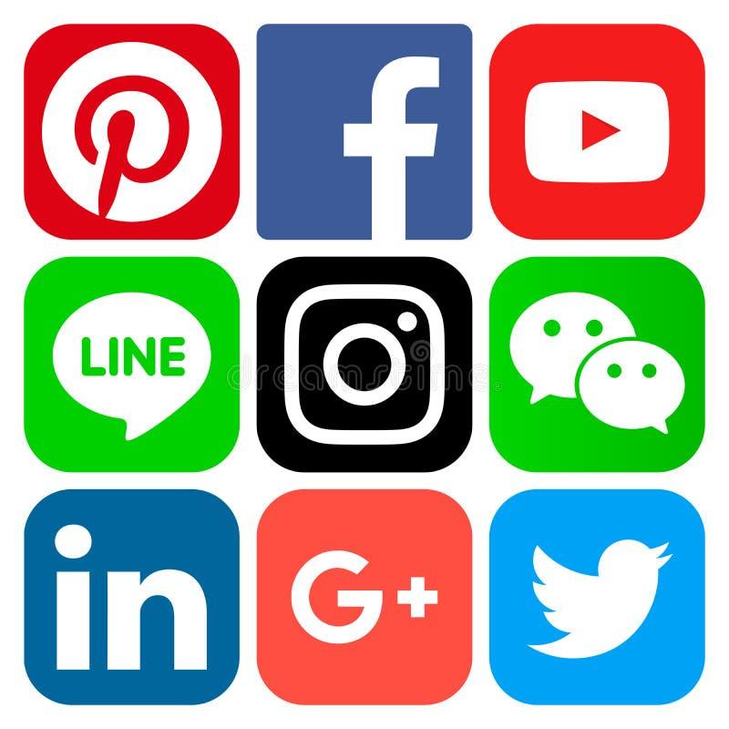Icone sociali popolari di media