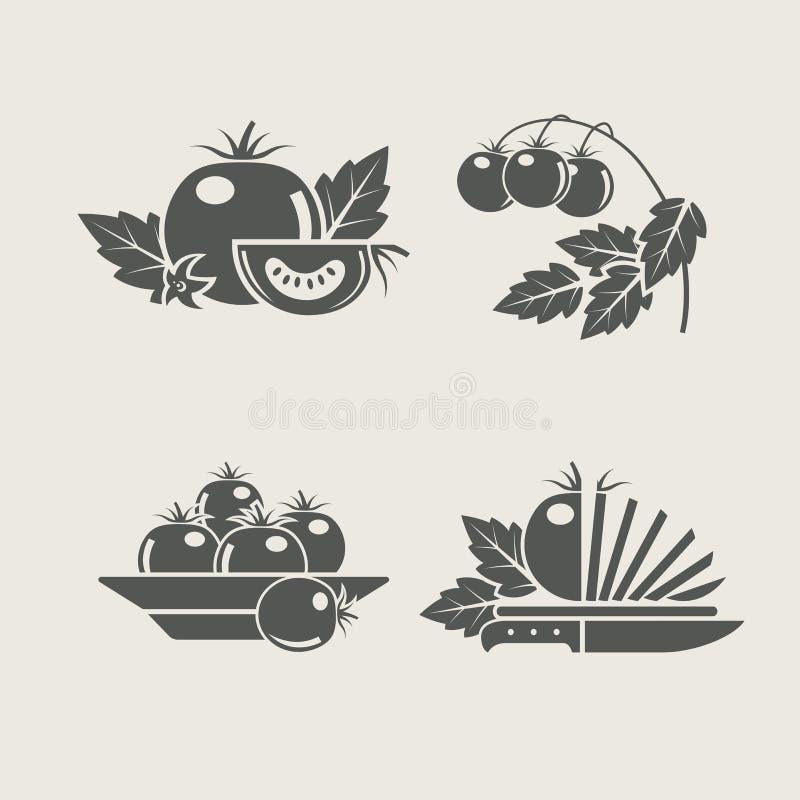 Icone stabilite del pomodoro royalty illustrazione gratis