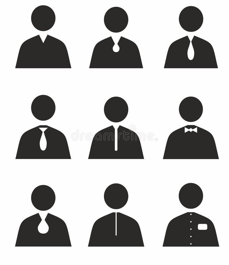 Icone stabilite dell'essere umano royalty illustrazione gratis