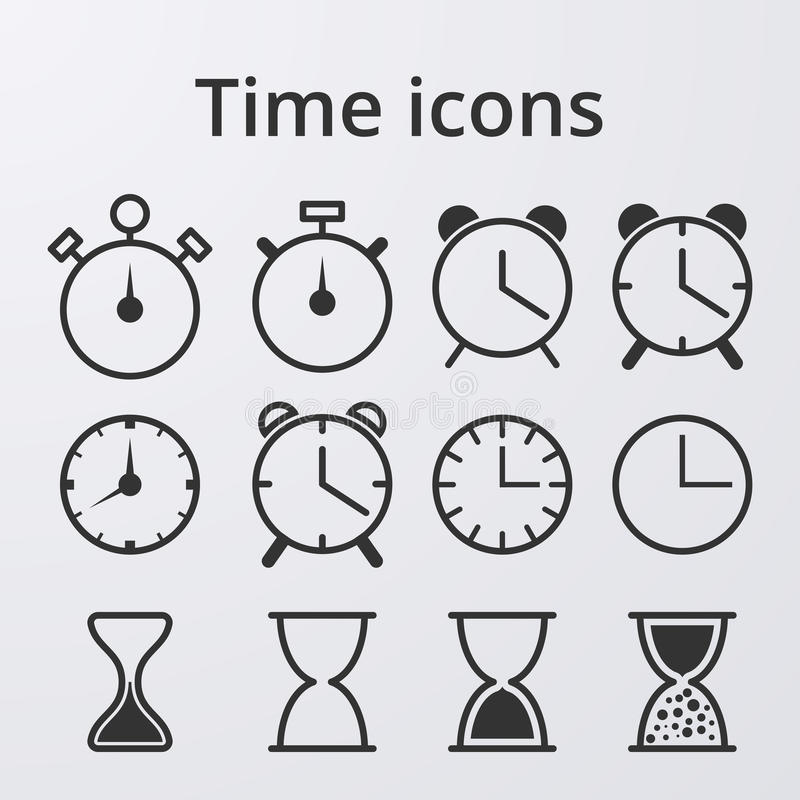 Download Icone Stabilite Dell'orologio Di Riserva Di Vettore Illustrazione Vettoriale - Illustrazione di pictogram, bordo: 56891415