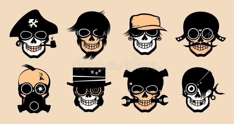 Icone strane del fumetto. illustrazione di stock
