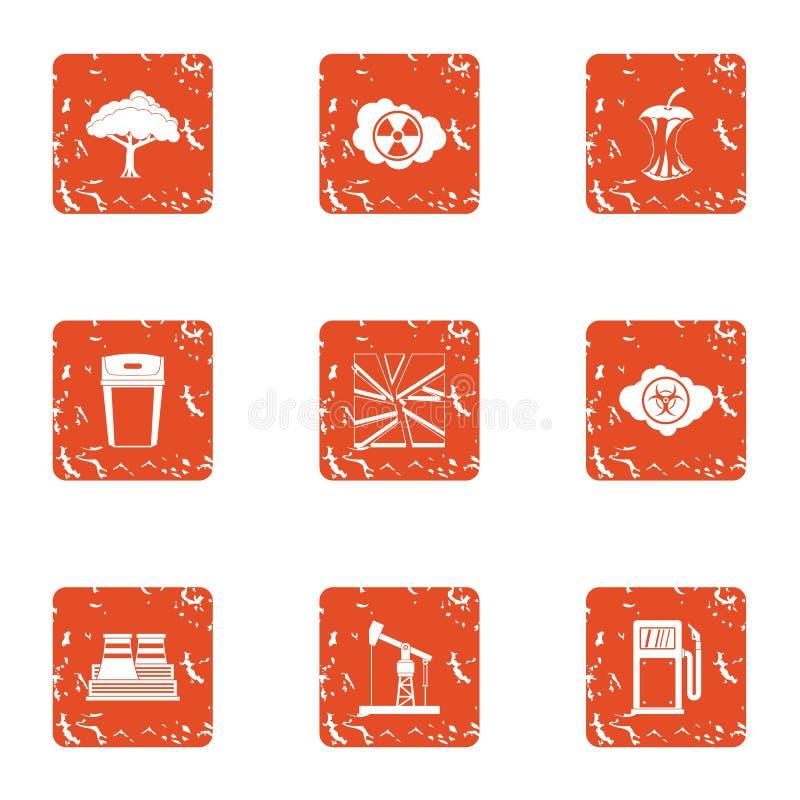 Icone tecniche messe, stile di clima di lerciume royalty illustrazione gratis