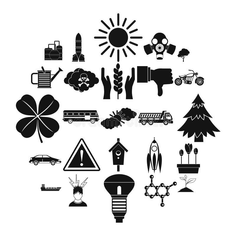 Icone termiche messe, stile semplice illustrazione vettoriale