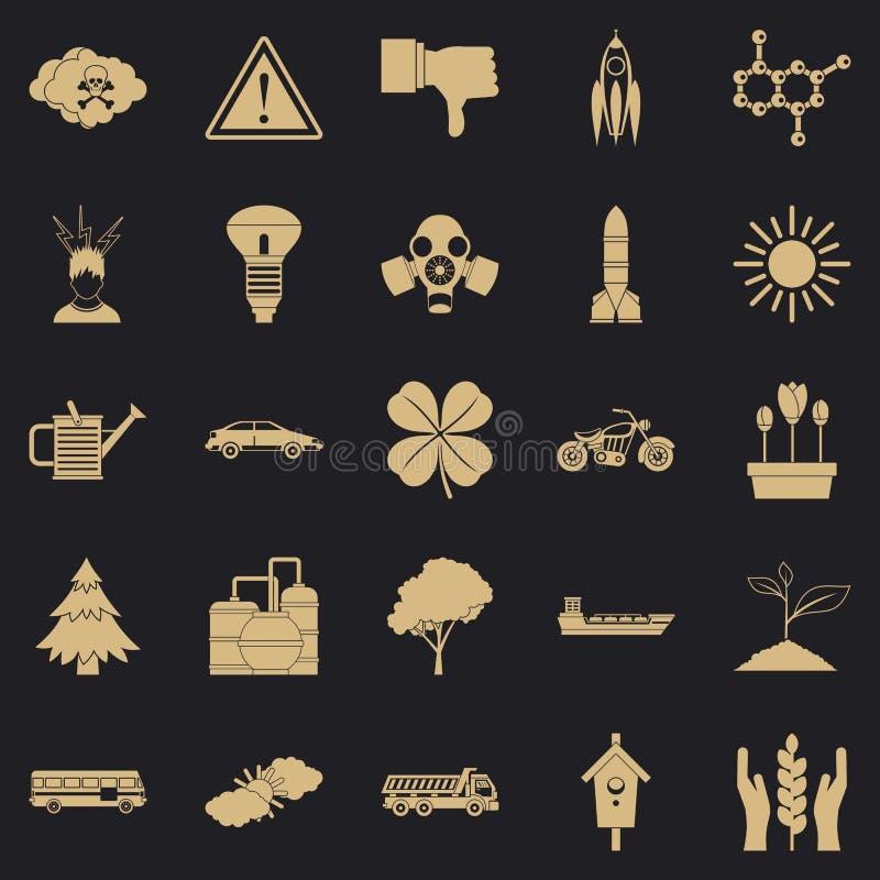 Icone termiche messe, stile semplice royalty illustrazione gratis