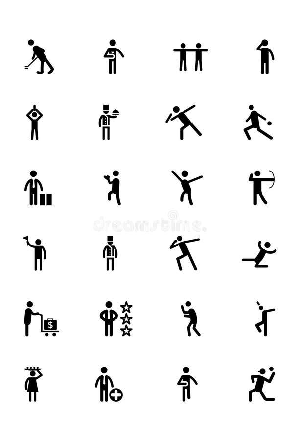 Icone umane 8 di vettore royalty illustrazione gratis
