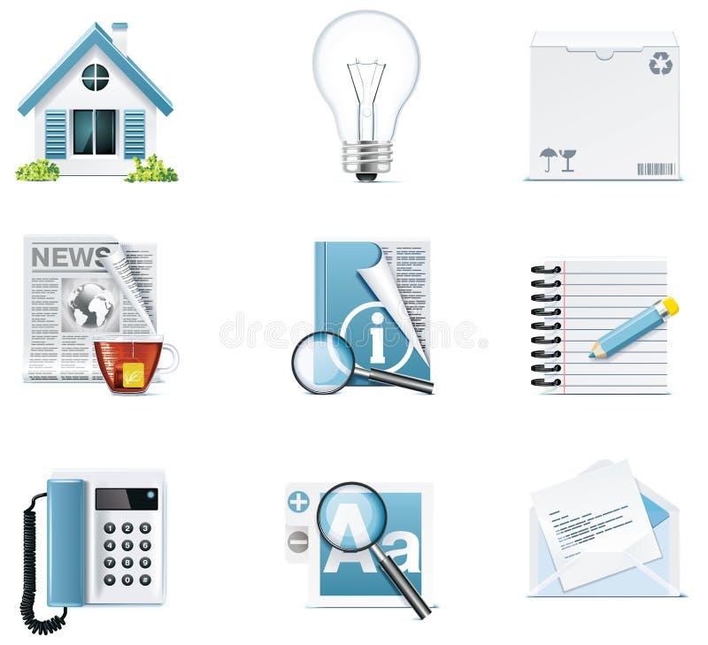 Icone universali di Web site di vettore illustrazione vettoriale