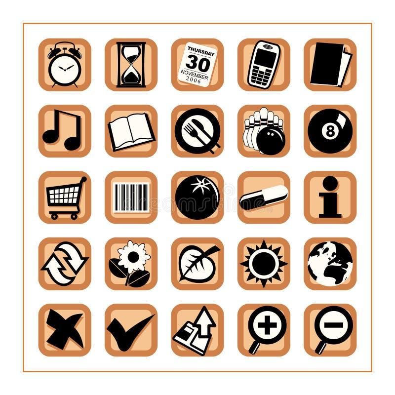 Icone utili 2 - versione 2 illustrazione vettoriale