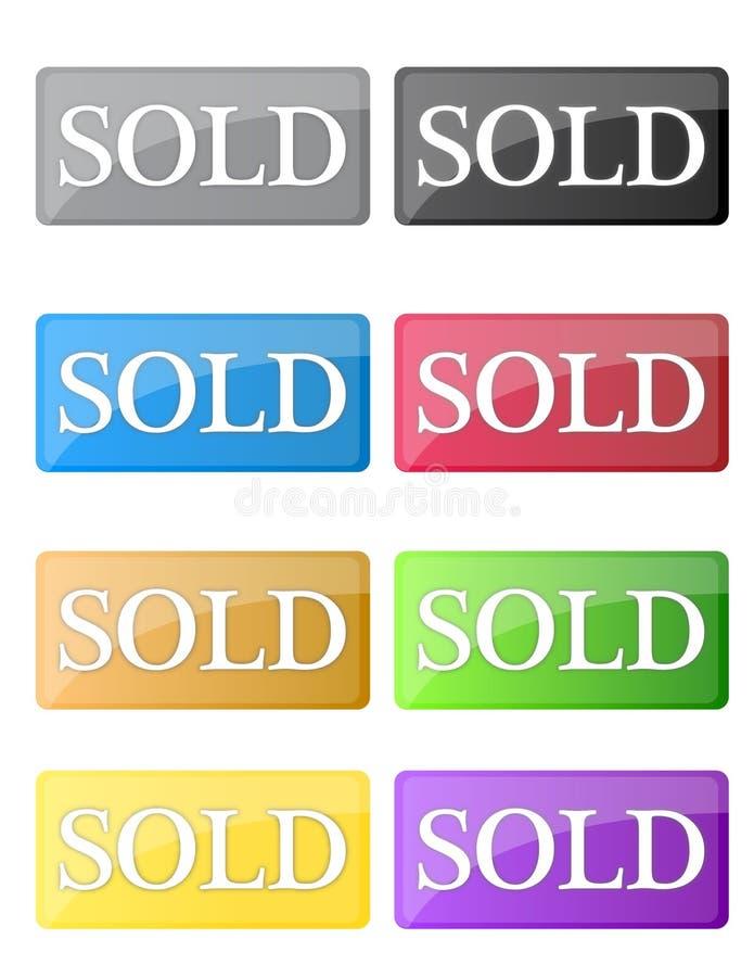 Icone vendute illustrazione vettoriale