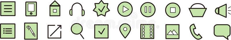 Icone verdi fotografia stock