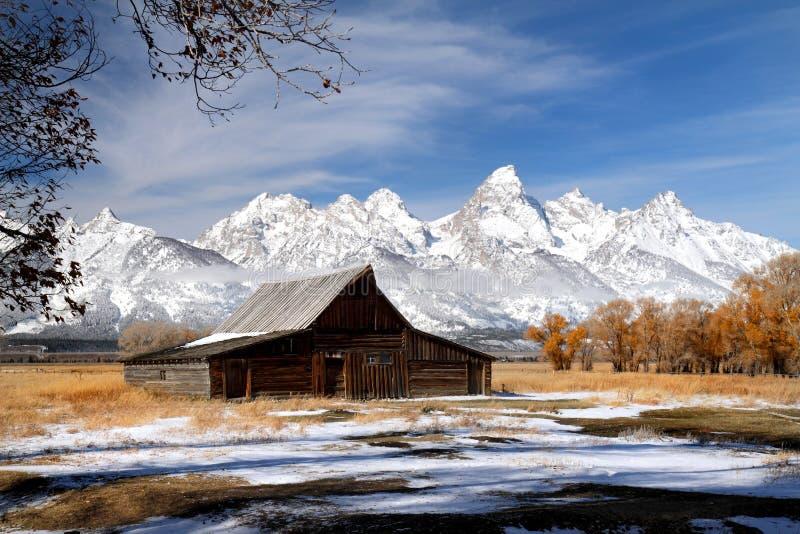 Iconic barn in Grand Teton National park