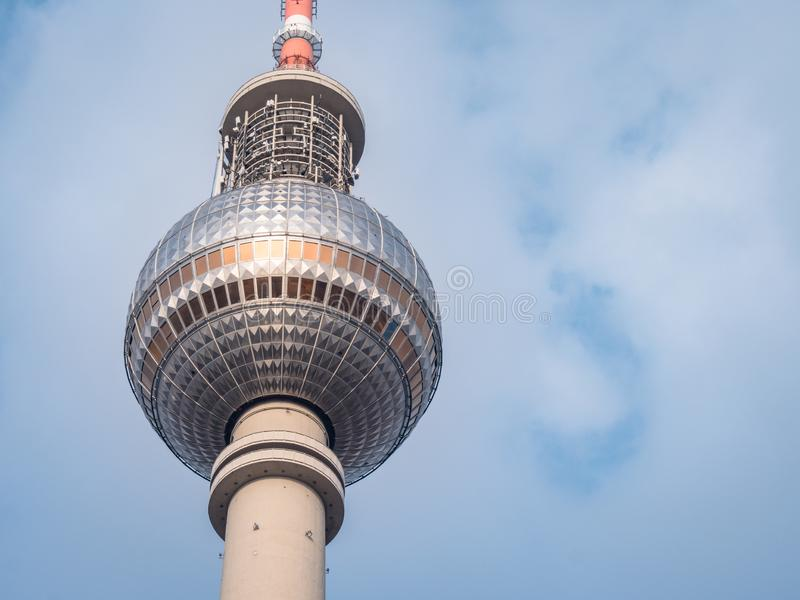 Iconic Berlin TV Tower Building. Iconic TV Tower Building on the Berlin skyline royalty free stock image